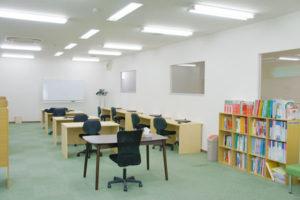 教室内の様子。広々とした空間です。